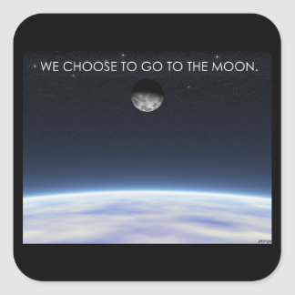 To The Moon Square Sticker