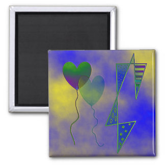 """""""To The Moon With Love"""" 2 inch Square Magnet"""