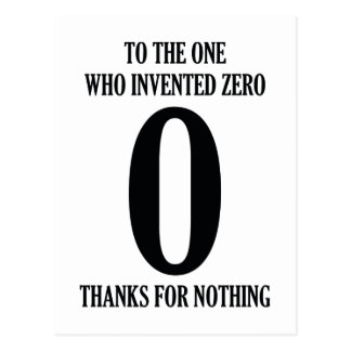 To The One Who Invented Zero Postcard