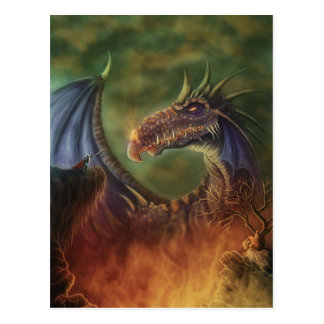 to the rescue! fantasy art postcard