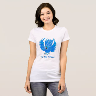 To the Stars Blue Birdie Tee