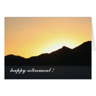 to the sunset card