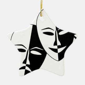 To the Theatre! Ceramic Star Ornament