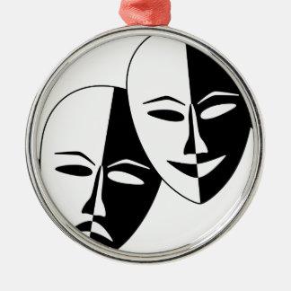To the Theatre! Silver-Colored Round Ornament