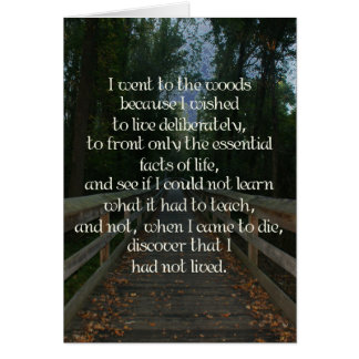 To the Woods Bridge Thoreau Card