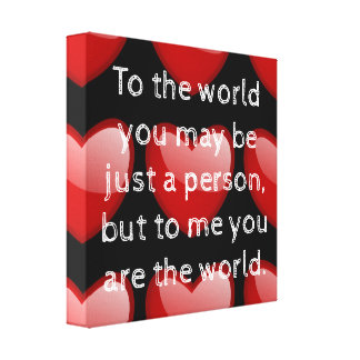 To the World - Canvas art romance print
