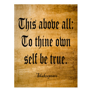 To Thine Own Self Be True (Weathered) Postcard