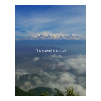 To travel is to live TRAVEL QUOTE Custom Letterhead