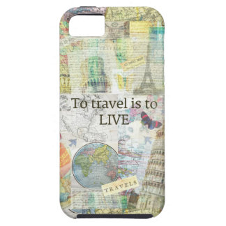 To Travel ls To Live quote iPhone 5 Cover