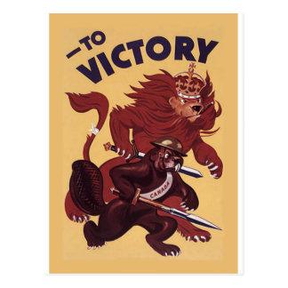 To VictoryCanada ~ War Propaganda Campaign 1942 Postcard