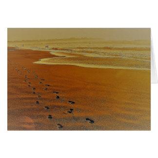 To walk by the beach - Pichilemu, Chile Card