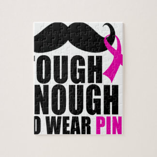 To wear Pink for cancer awareness Jigsaw Puzzle