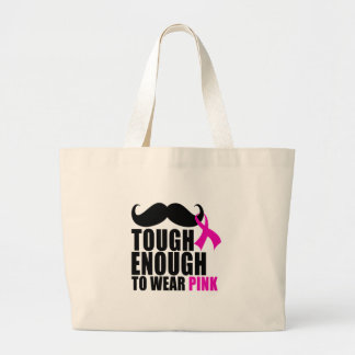 To wear Pink for cancer awareness Large Tote Bag