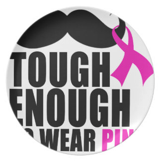 To wear Pink for cancer awareness Plate