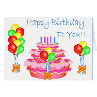 To You (Happy Birthday) Card