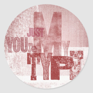 To your love classic round sticker