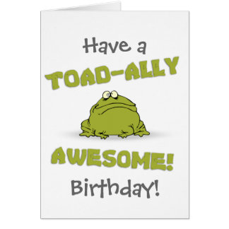 Toad-ally Awesome Card