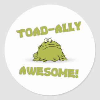 Toad-ally Awesome Round Sticker