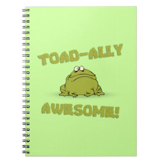 Toad-Ally Awesome Spiral Notebook