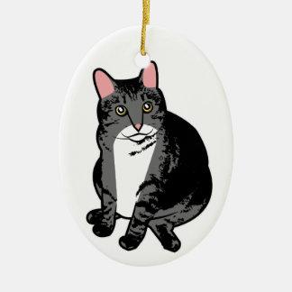 Toad Cat Ceramic Ornament