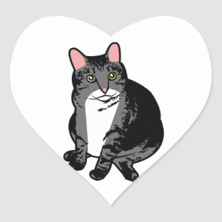 Toad Cat Heart Sticker