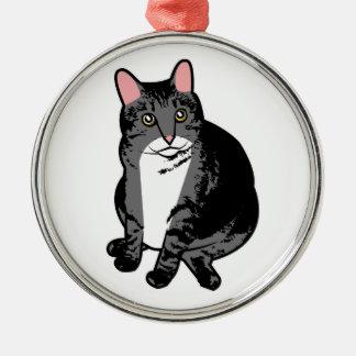 Toad Cat Metal Ornament
