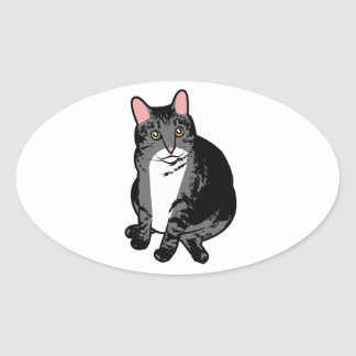 Toad Cat Oval Sticker