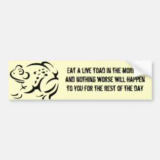 Toad Eater Bumper Sticker
