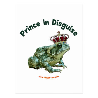 Toad Frog Prince in Disguise Postcard