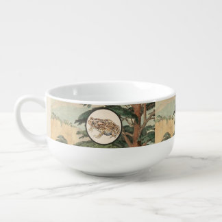 Toad In Natural Habitat Illustration Soup Bowl With Handle