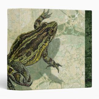 Toad Swinning in the Water 3 Ring Binders