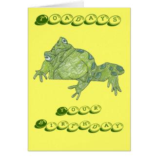 "Toad ""Toadays"" Birthday Card"