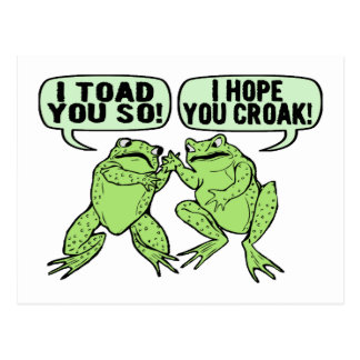 Toad You So Postcard