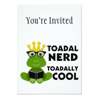 "Toadal Nerd Toadally Cool 5"" X 7"" Invitation Card"