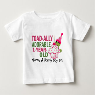Toadally Adorable 1-Year Old Baby T-Shirt