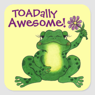 Toadally Awesome - Cute Frog Sticker