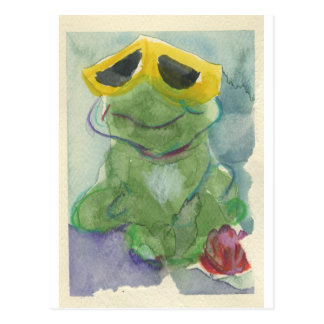 Toadally Awesome Tyrone T. Toad Postcard