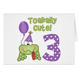 Toadally Cute 3rd Birthday Note Card