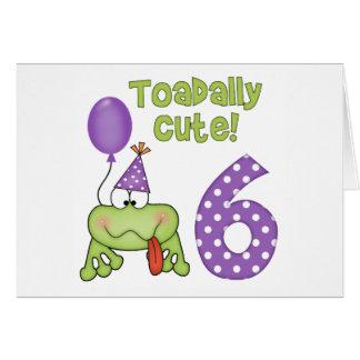 Toadally Cute 6th Birthday Card