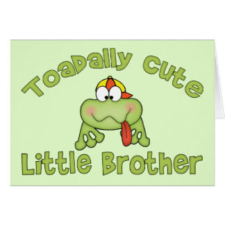 Toadally Cute Little Brother Note Card