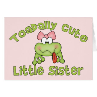 Toadally Cute Little Sister Cards