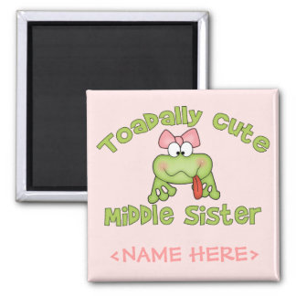 Toadally Cute Middle Sister Magnet