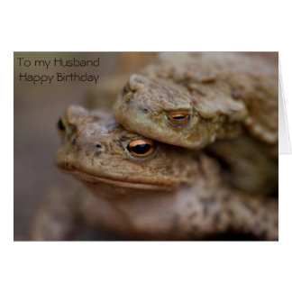 Toads Husband Greeting Card