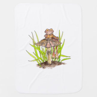 Toads Sharing A Book Baby Blanket