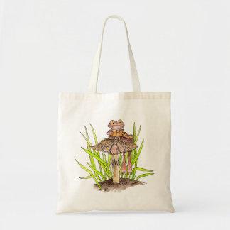 Toads Sharing A Book Tote Bag