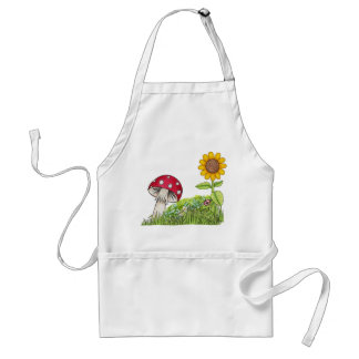 Toadstool and Sunflower Standard Apron