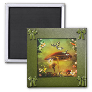Toadstool Collection Square Magnet