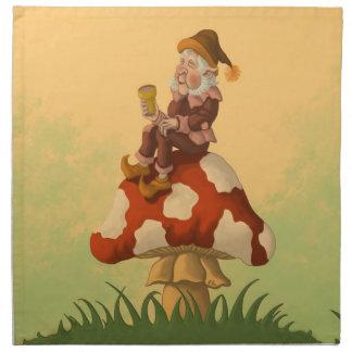 toadstool gnome fantasy napkin