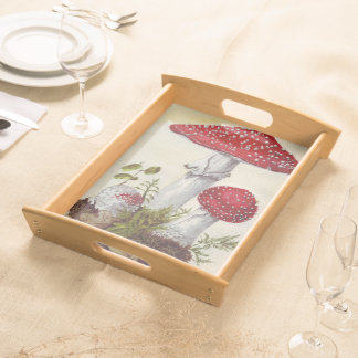 Toadstool Mushrooms Serving Tray
