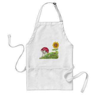 Toadstool with Sunflower and Ladybug products Standard Apron